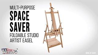 U.S. Art Supply | Multi-Purpose Space Saver Foldable Studio Artist Easel | USA E-441