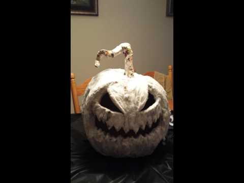 Funkin paper mache pumpkin rot