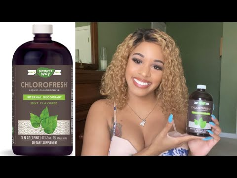 LIQUID CHLOROPHYLL BENEFITS: Eliminates Body Odor, Vaginal Odor, Yeast, Menopause, & More
