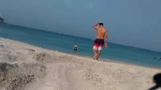 My 1st dip @ Jumeirah Open beach BurjAlArab