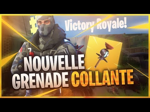 NOUVELLE GRENADE COLLANTE !! UNE FOIS COLLEE, IL EST CONDAMNE - FORTNITE BATTLE ROYALE