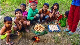 creative way to boil eggs without using water kids in village are so clever