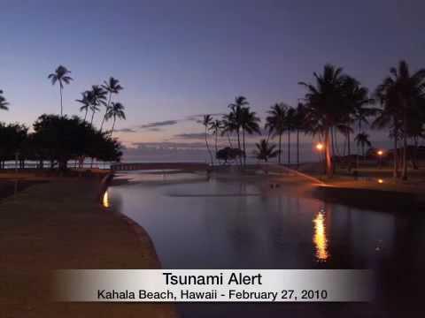 Tsunami Alert - Honolulu Hawaii  - February 27, 2010