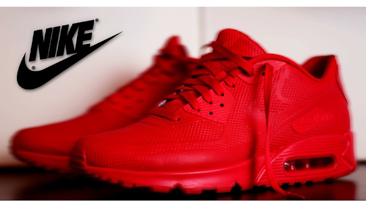all red nike air max 90