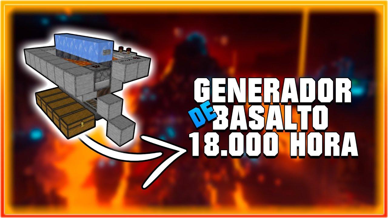 Generador de Basalto - MUY FÁCIL - 18000 BASALTO/HORA  - Tutorial minecraft 1.16.1 - 1.16 - 1.16.2