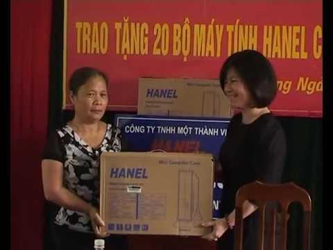 Công ty TNHH MTV HANEL trao tặng 28 bộ máy tính cho UBND xã Hương Ngải .flv
