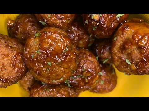 How to make Sweet Honey Glazed Meatballs | FROZEN Meatball Recipe