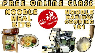 Online class. DIY męal kits with fresh craft home-made noodles: noodle making, packaging, marketing