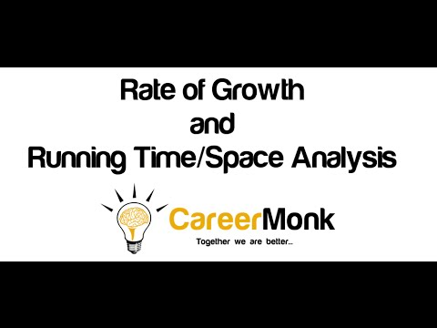 Rate of Growth and Running Time/Space Analysis