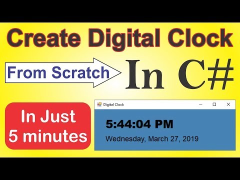 Create Digital Clock From Scratch in C# in Just 5 Minutes