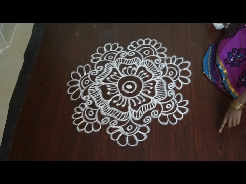 without dots rangoli || rangoli without dots kolam || rangoli without colour