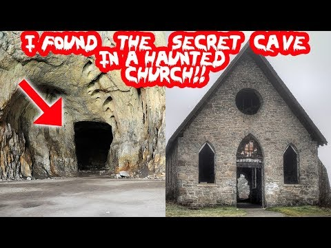 I FOUND A SECRET CAVE IN A HAUNTED ABANDONED CHURCH! 24 HOUR OVERNIGHT CHALLENGE IN A HAUNTED CHURCH