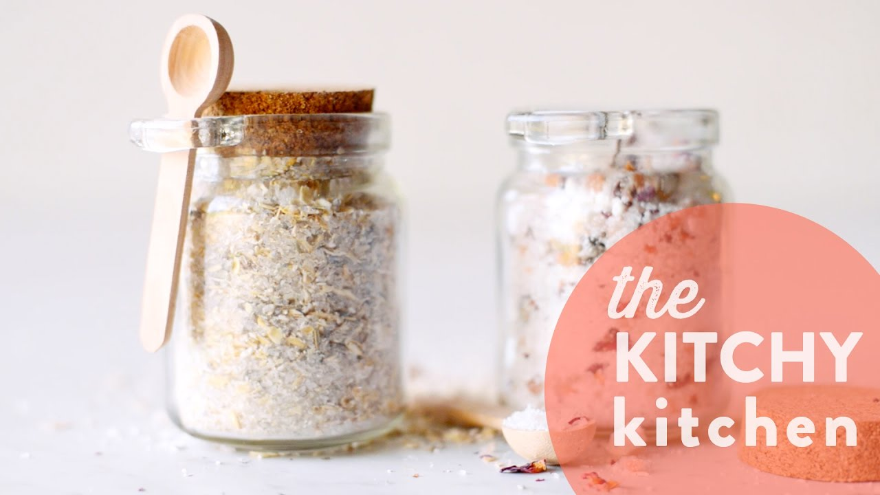 DIY Mother\'s Day Bath Salts // The Kitchy Kitchen - YouTube