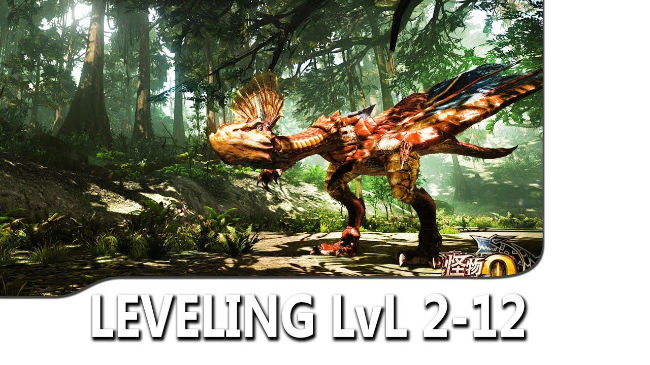 Leveling Niv 2-12 Yian Kut Kut - Monster Hunter Online Gameplay