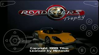 [[8MB Game]] Roadsters Trophy N64oid Gameplay | Car Racing Game