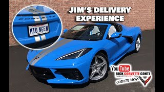 CORVETTE DELIVERY EXPERIENCE JIM'S RAPID BLUE C8 STINGRAY