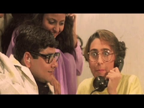 Karisma Kapoor Makes Free Call - Andaz, Comedy Scene 7/22