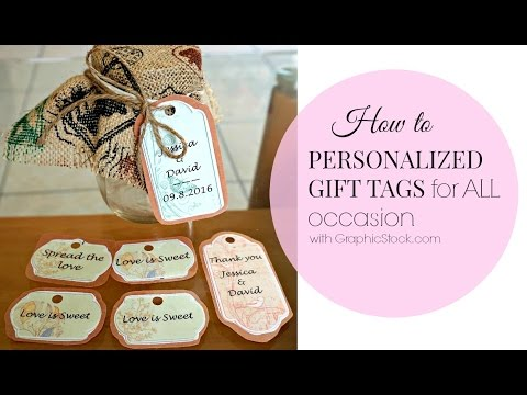 Diy Personalized Tags For Wedding All Occasion