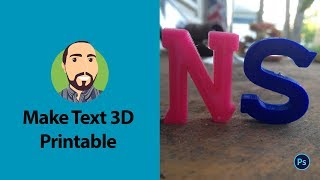 Make 3D Printable Text In Photoshop