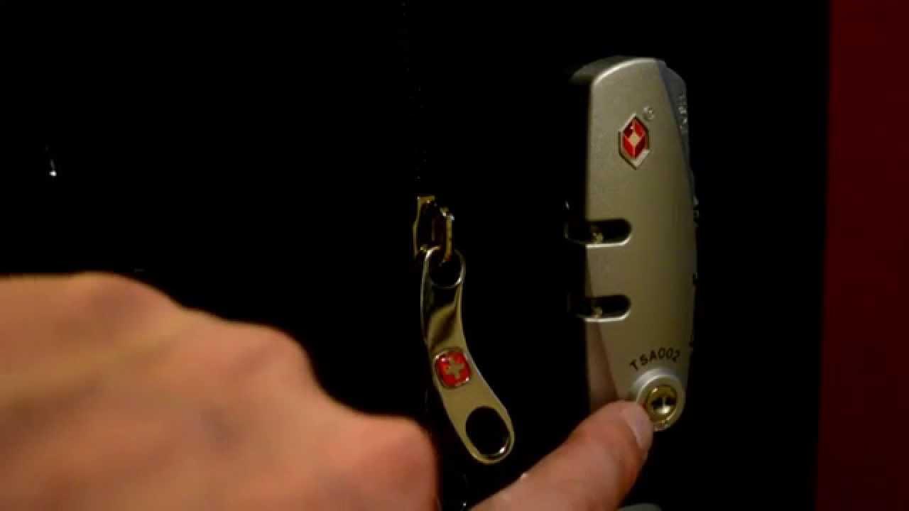 Кодовый замок на чемодане WENGER. Как пользоваться. - YouTube