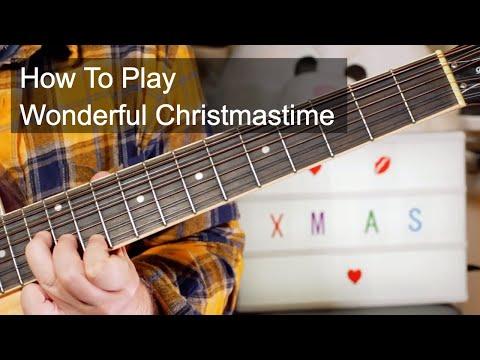 'Wonderful Christmastime' Paul McCartney Acoustic Guitar Lesson