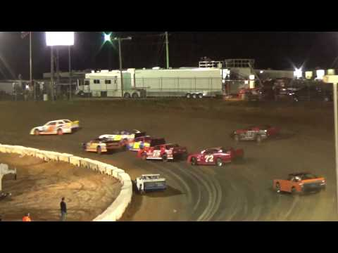 Battlefield New Years Bash World Championships - 39 cars divided into 4 heat races. Due to the continuing inclement weather conditions & losing the race track ... - dirt track racing video image
