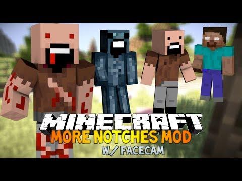 Minecraft: More Notches mod - HEROBRINE NOTCH, SQUID NOCH & MORE!