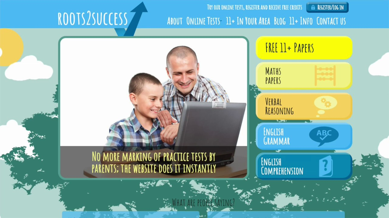 Online 11 plus practice on the Roots2Success website - YouTube