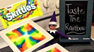 ELF ON THE SHELF DAY 20 - SKITTLES RAINBOW MAGIC TRICK