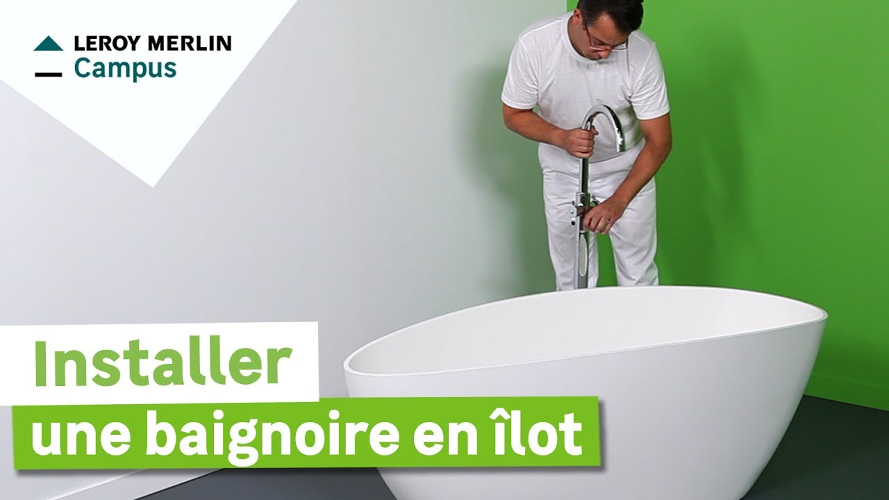 comment installer une baignoire en lot leroy merlin youtube. Black Bedroom Furniture Sets. Home Design Ideas
