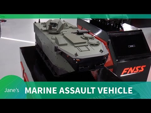 First Showing of FNSS' Marine Assault Vehicle (scale model)