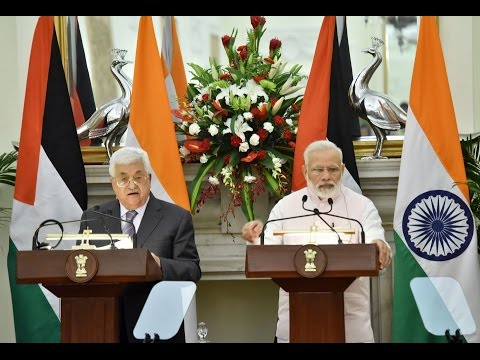 PM Modi at Press Statement & Exchange of Agreements with Palestine President Mr. Mahmoud Abbas