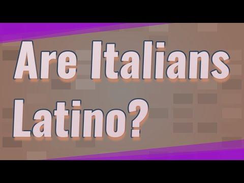 Are Italians Latino?