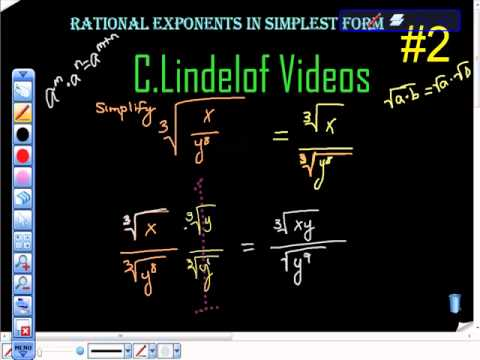 simplest form exponents  Rational Exponents in Simplest Form 13