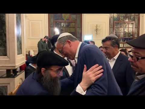 הרב פינטו - מעמד הכתרת הרב הראשי למרוקו