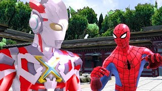 Ultraman X Robot Vs Spiderman Upin Ipin Funny Action Nursery Rhymes