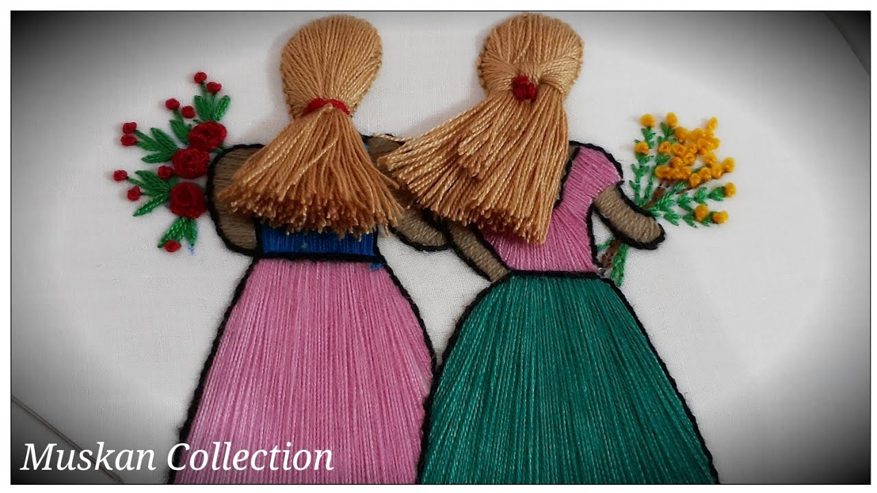 Hand Embroidery Doll Design