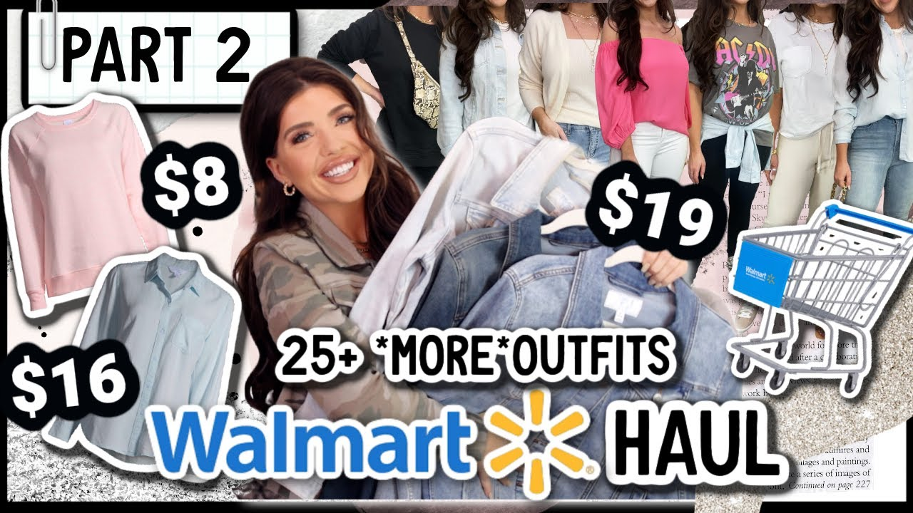 WALMART HAUL 2021   *HUGE* Walmart Try On Clothing Haul   25+ OUTFITS   Part 2 #WalmartFashion