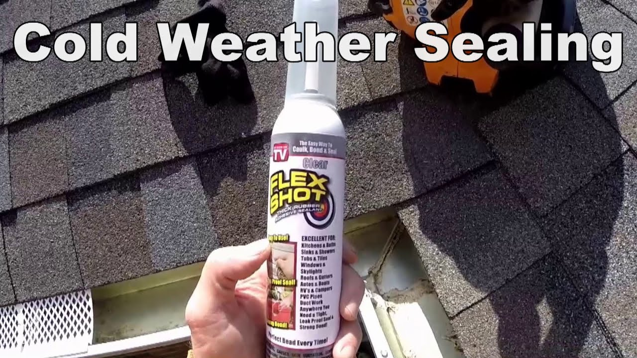 Cold weather gutter sealing how to diy youtube cold weather gutter sealing how to diy solutioingenieria Choice Image