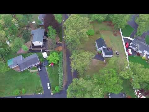 Tornado Damage Scrub Oak Road and Bradley St North Haven