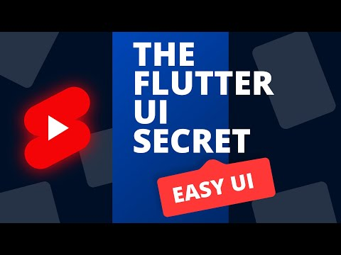 How to Build any Mobile UI #shorts #flutter #tutorial