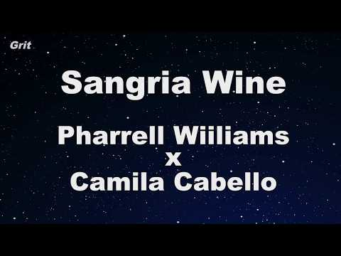 Sangria Wine - Pharrell Williams X Camila Cabello Karaoke 【No Guide Melody】 Instrumental