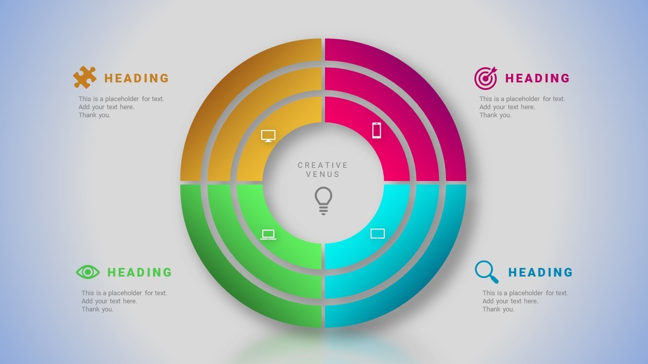 How To Design Circle Chart Infographic In Microsoft Office Powerpoint Ppt