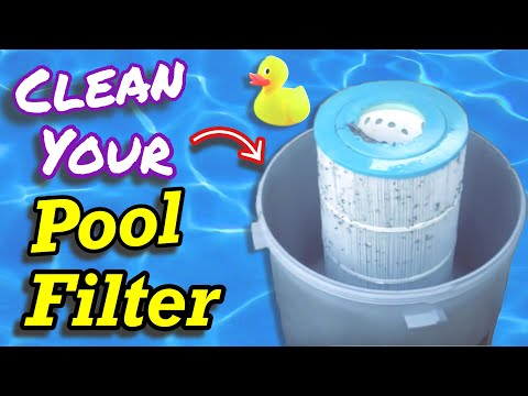 How to clean cartridge filter in swimming pool