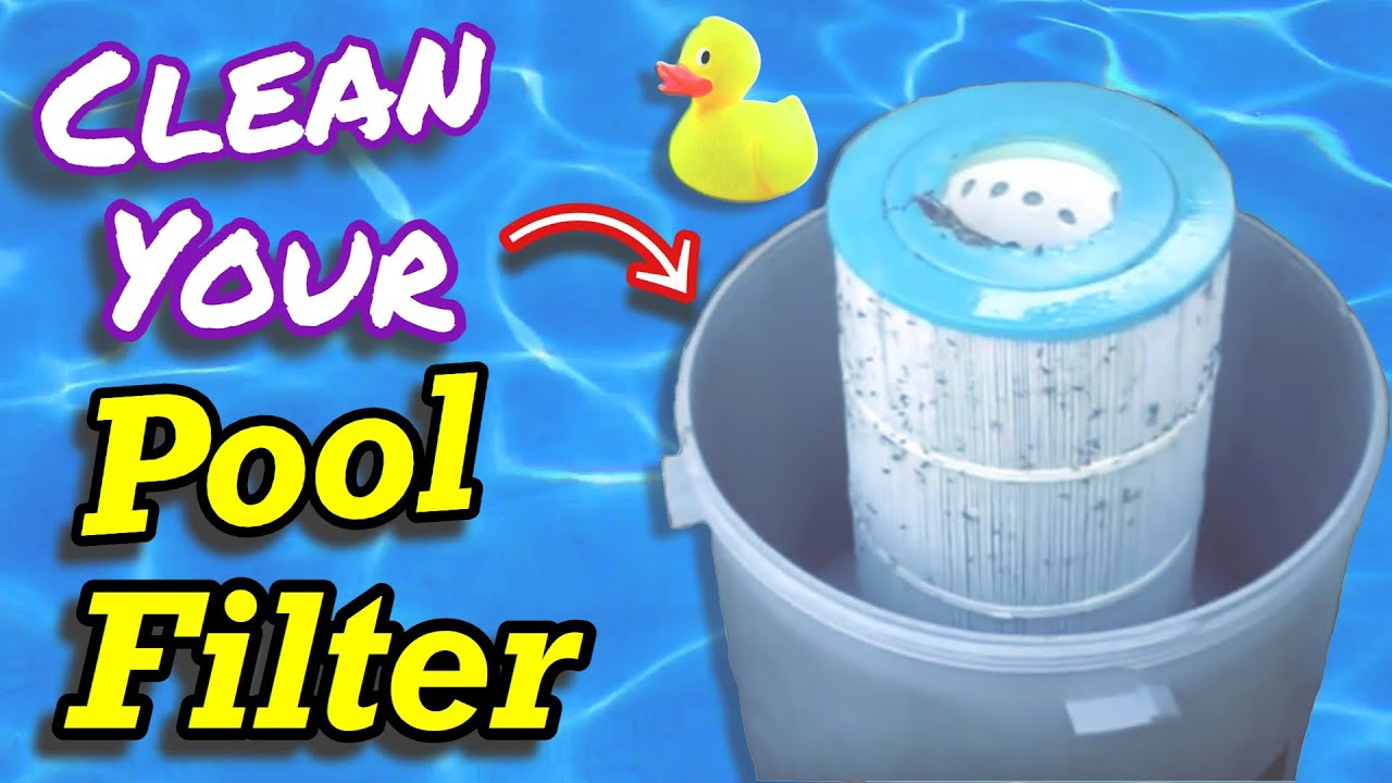 How To Clean Swimming Pool Filter Cartridge Filter Youtube