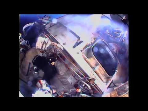 ISS Expedition 38 Russian Cosmonauts Install Cameras on EVA