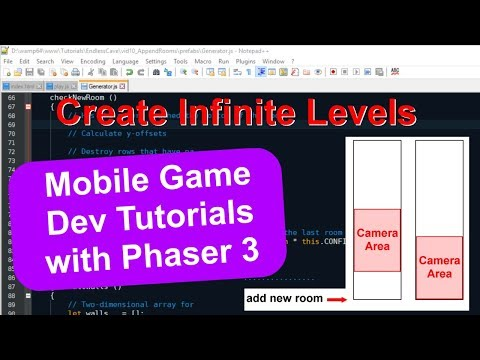 'Endless Cave' Ep. 12: Infinite Levels | Phaser 3 Game Dev Tutorial thumbnail