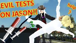 [School Girls Simulator] WATCH ME TEST ALL LIQUIDS ON JASON [EVIL EXPERIMENT!!]
