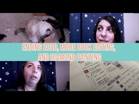 Ending 2020, more book editing, and diamond painting | Writing Vlog Week 01
