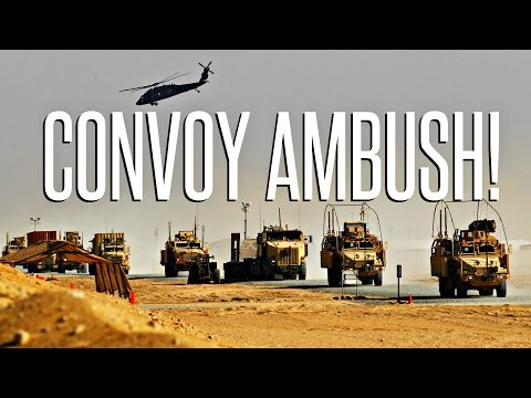 ARMED CONVOY AMBUSH! - ArmA 3